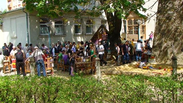 A rendezvény az óvoda udvarában folytatódott