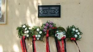 Centenáriumi emléktábla - Jégl Zoltán alkotása