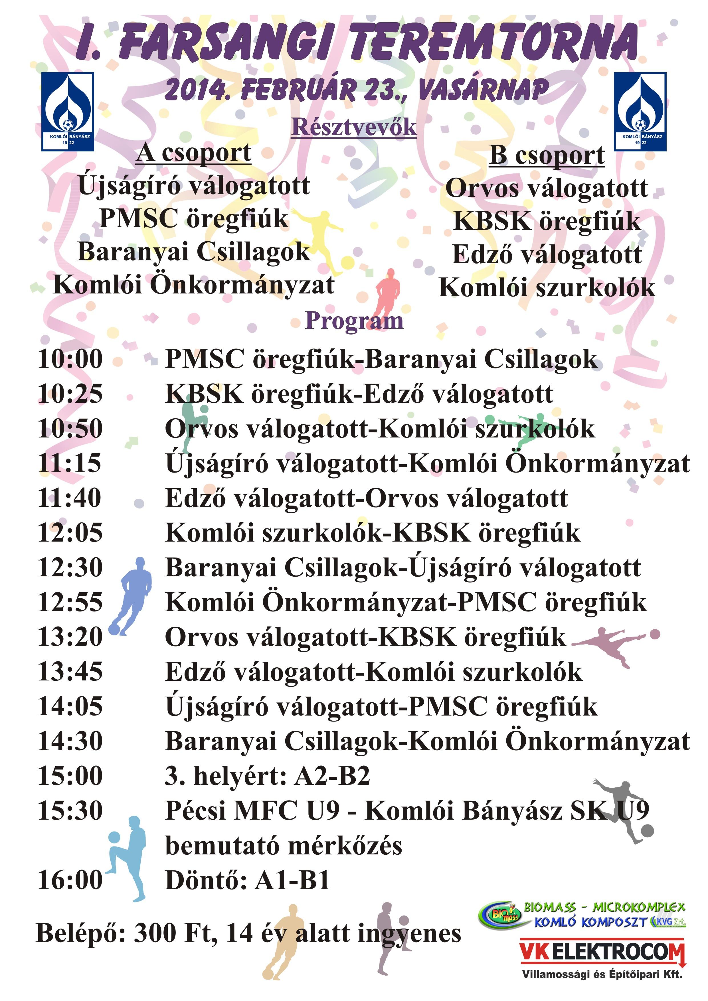 I. Farsangi Teremtorna plakát