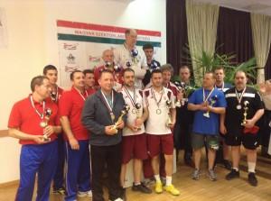 Az EB-győztes csapatban a komlói Szendrey Tibor a dobogó legtetején
